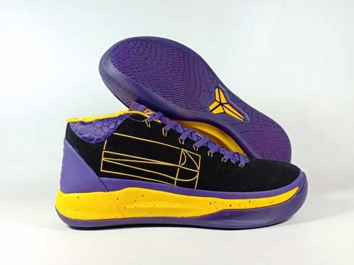on sale 5cbee 6126f Jual Sepatu Basket KOBE A.D MID BLACK PURPLE YELLOW Replika Impor - Ungu,  42 - Kota Batam - TOKOMURAHsport | Tokopedia