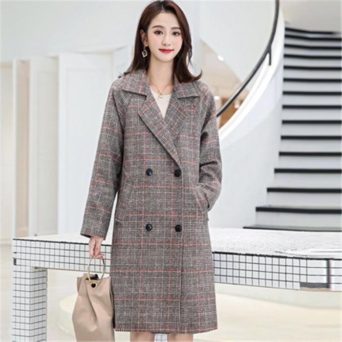 Baru Fashion Wol Mantel Wanita Panjang 2018 Musim Gugur Musim Dingin