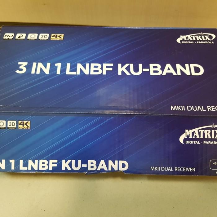 Jual Lnb Kuband Matrix 3 in 1 Dual receiver ( SES9, Measat3, Chinasat11 ) -  DKI Jakarta - ruslan toha | Tokopedia