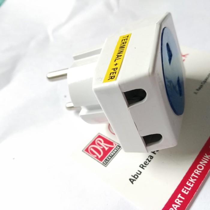 Foto Produk Steker Terminal T Listrik kecil Yunior 10a 10 ampere 250 250v bagus dari DR ELEKTRONIK DEPOK