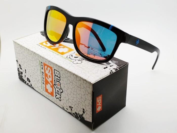 d16ff52921263 Kacamata Spy Murena hitam lensa fire polarized list biru - sunglasses