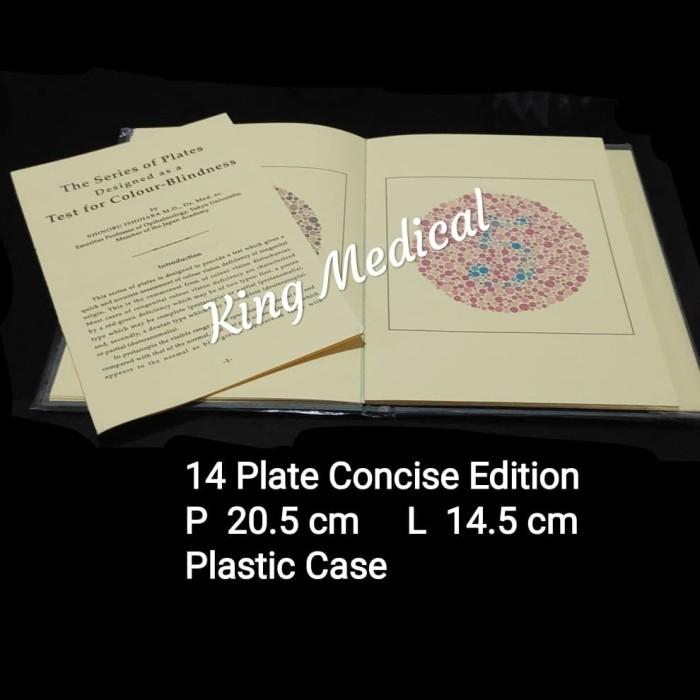 harga Isihara ishihara buku tes buta warna 14 plate Tokopedia.com
