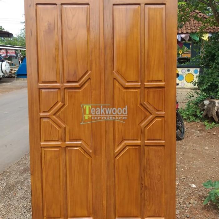 Nama Warna Cat Rumah Minimalis  jual daun pintu rumah minimalis jati kab jepara teakwoodfurniture tokopedia