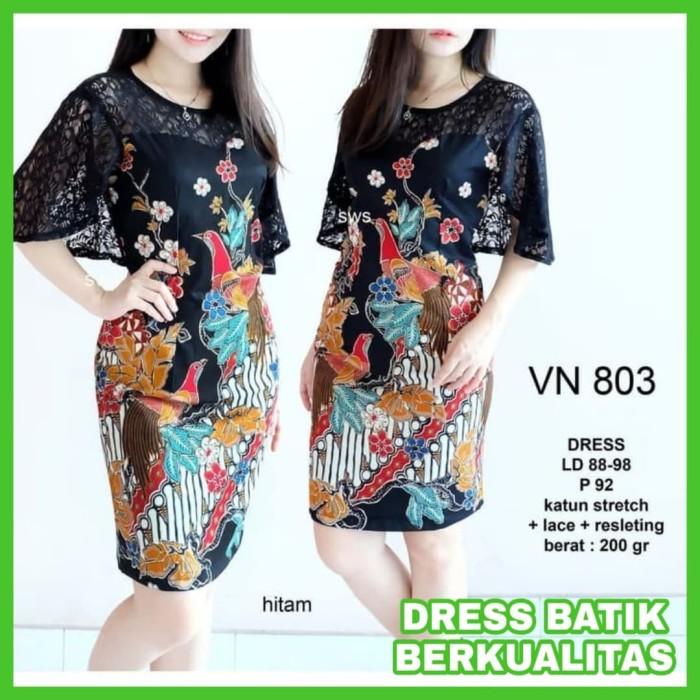 Review Dress Batik Wanita Big Size Dress Batik Modern Jumbo Terbaru ... f8d4f287ce