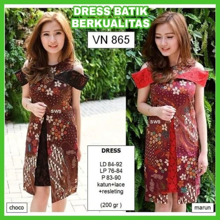 Info Harga Baju Kerja Batik Wanita Terbaru Dress Kerja Batik Modern ... 6f51dcb849