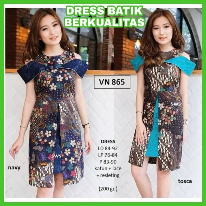 Review Dress Batik Modern Wanita Terbaru Dress Batik Sabrina Di ... 0055f11a94