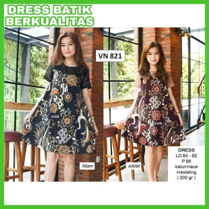 Update Harga Dress Batik Kerja Wanita Baju Kerja Batik Dress Kerja ... 429d2438b4