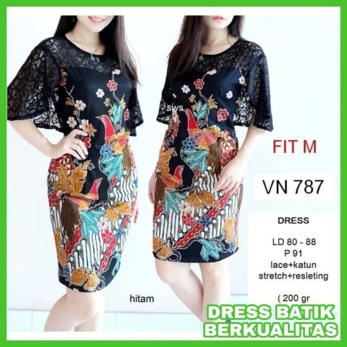 BARU Dress Batik Kerja Baju Kerja Batik Dress Kerja Batik Wanita Virza 0c3b13479f