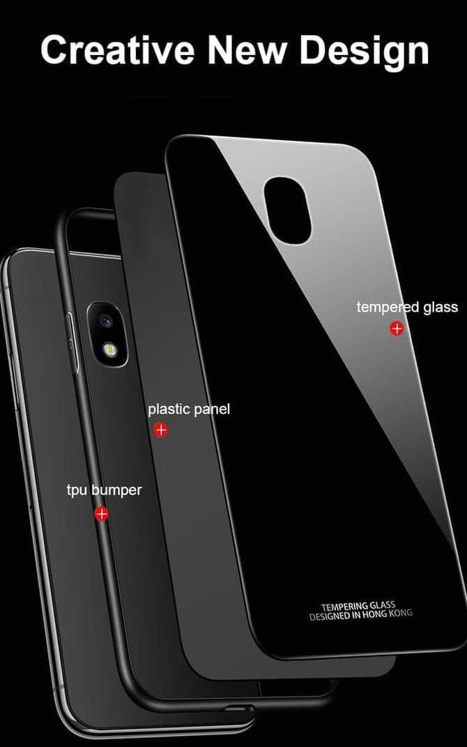 Case Samsung J5 Pro / J530 Luxury Tempered Glass Premium Case - Hitam