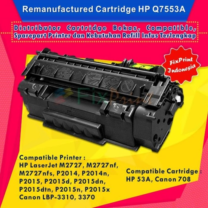 8PK Q7553A Toner Cartridge For LaserJet P2015 P2015D//P2015DN//P2015N//P2015X