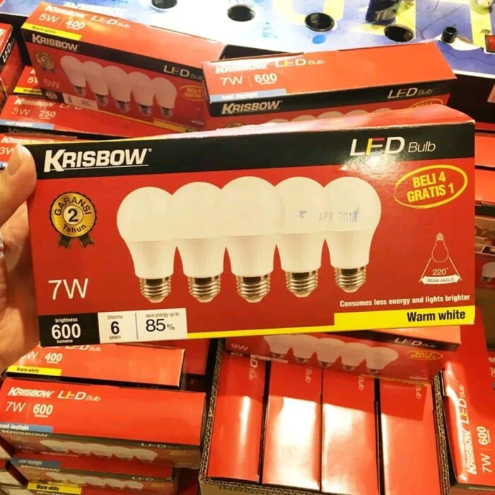 Jual Lampu Led 7 Watt Krisbow 1 Pack 1 Dus Isi 4 Lampu Led Krisbow 7 Jakarta Barat Enina Shop Tokopedia