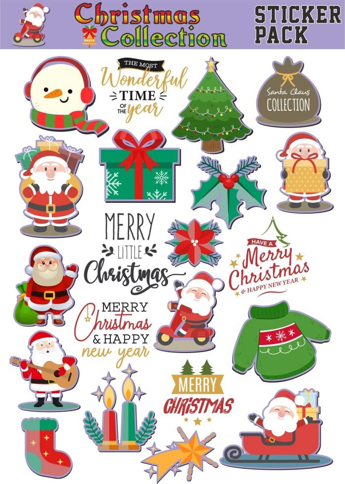 Jual Stiker Natal Dan Tahun Baru Kab Klaten Black Ink Sticker Tokopedia