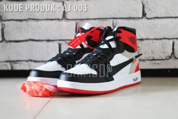harga Sepatu sneakers pria nike air jordan 1 off white edition Tokopedia.com 91e2983309