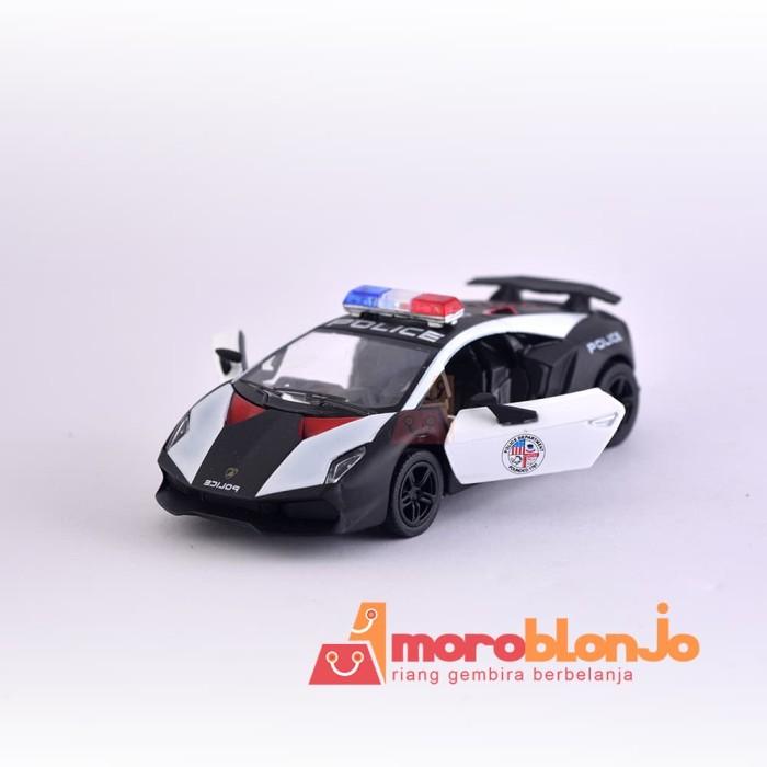 Jual Kinsmart Lamborghini Sesto Elemento Police Moroblonjo Tokopedia