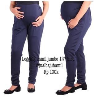 Jual Murah Celana Legging Hamil Jumbo 127 Biru Jakarta Selatan Bulan 12 Tokopedia