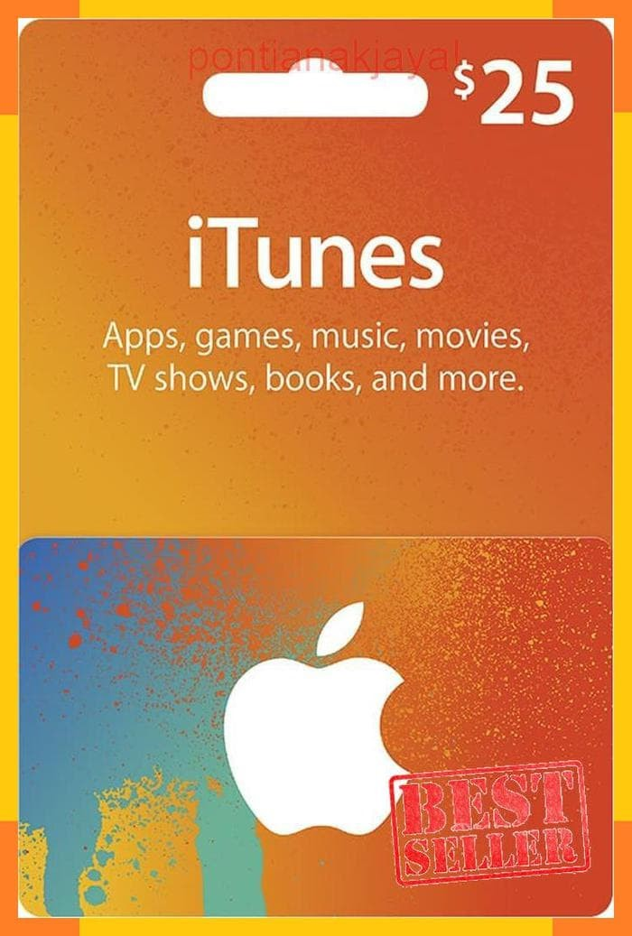 photograph about Itunes Printable Gift Card named Jual Itunes Giftcard Space US $25 Felony 100% / Giftcard Pay as you go $25 - Kota Pontianak - pontianakjaya Tokopedia