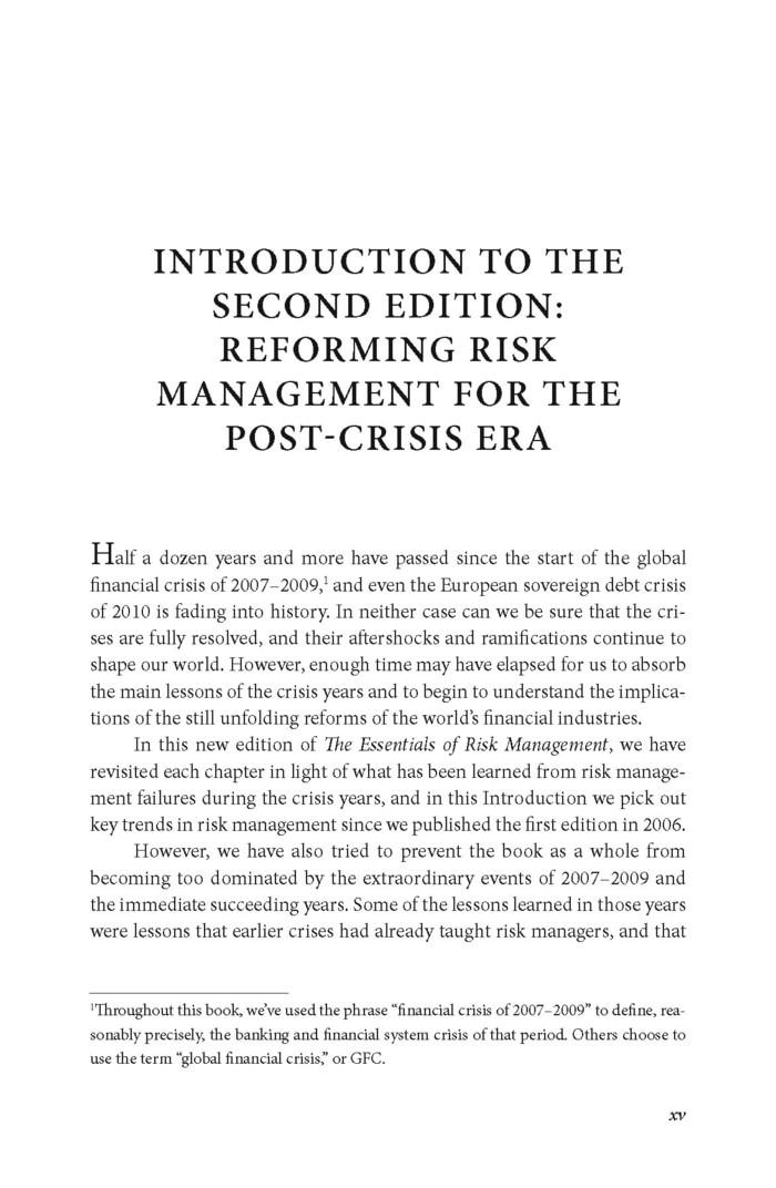 The Essentials Of Risk Management Ebook
