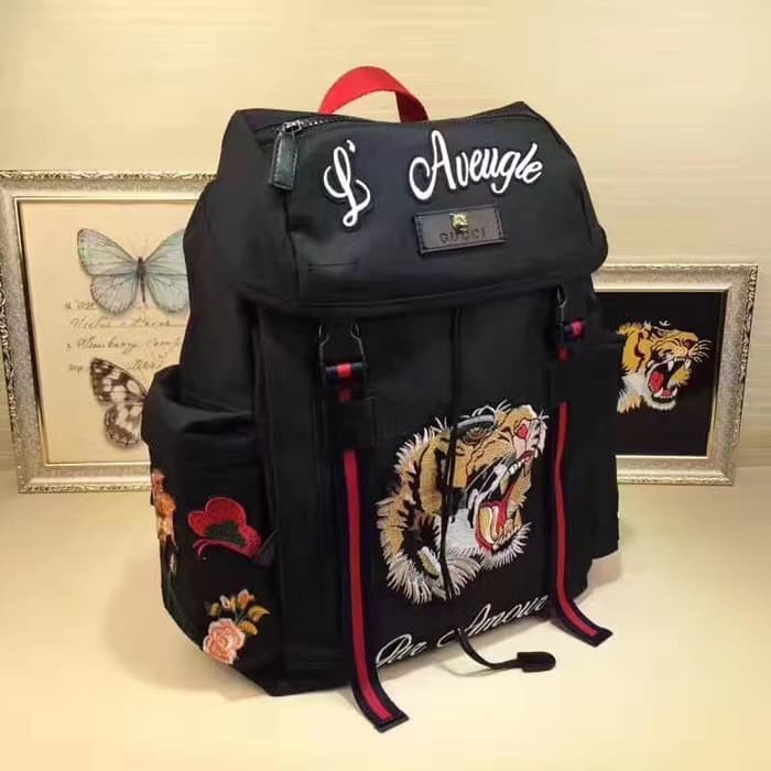 45d5247a9ae Jual Tas Gucci Backpack Techpack L Aveugle Embroider Limited Edition ...