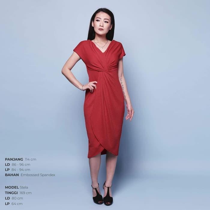 Jual Murah Squishy Dress Gaun Pesta Panjang Wanita Midi Dress Off