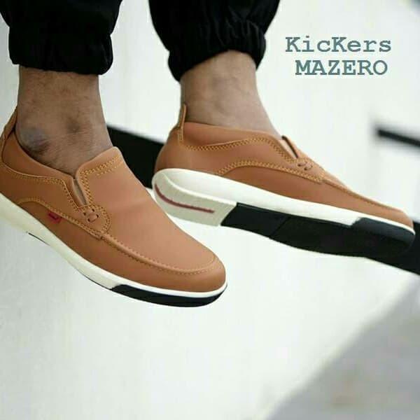 Jual sepatu pria kickers slip on casual slop kulit murah - sepatu ... fbfdb784c5