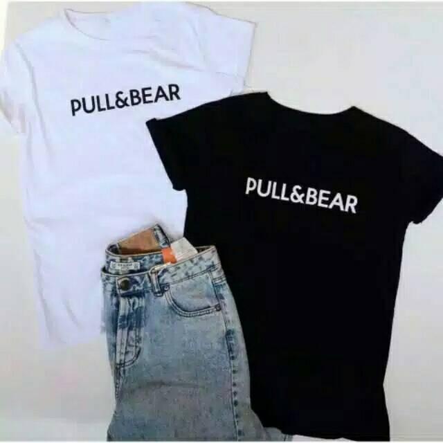 Jual Kaos Atasan Wanita Baju kaos wanita pull   bear Modis Terbaru ... b27a0facce
