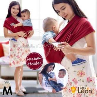 Gendongan Bayi Kaos/Geos/selendang Bayi Praktis BY 44 GB - MAROON