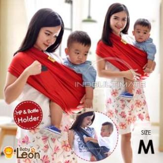 Gendongan Bayi Kaos/Geos/selendang Bayi Praktis BY 44 GB - RED CHILI - 2-3 tahun