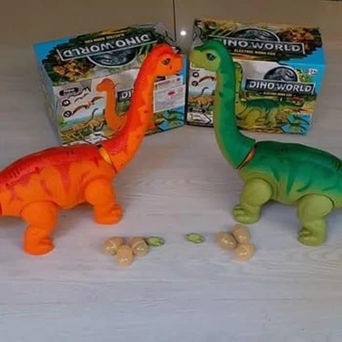 Jual Mainan Dinosaurus Bertelur Baterai Hewan Dino Anak Edukatif