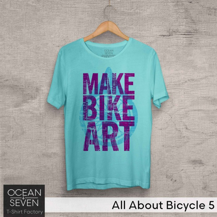 Foto Produk Kaos Oceanseven Original - All About Bicycle 5 Baju Distro Pria dari Urban Distro Store
