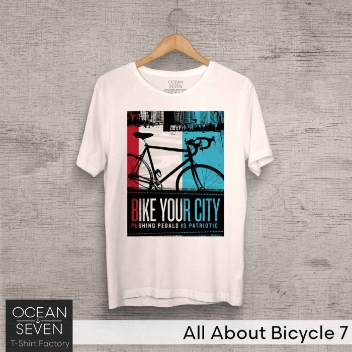 Foto Produk Kaos Oceanseven Original - All About Bicycle 7 Baju Distro Pria dari Urban Distro Store