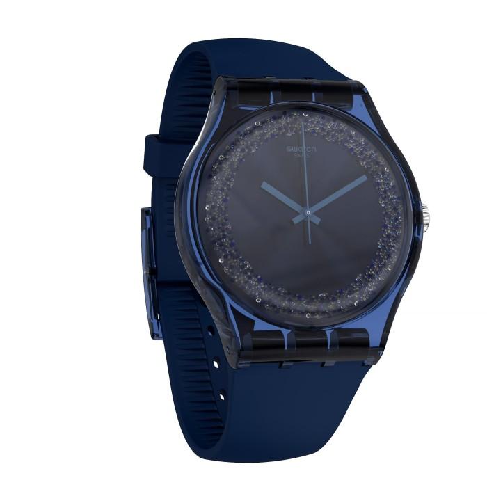 Jual Swatch Analog Jam Tangan Karet Unisex SUON134 BLUSPARKLES ... 7634ef0b8f