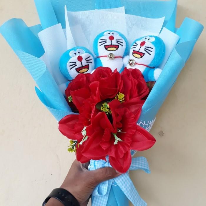 Bouquet Buket Bunga Boneka 3 Doraemon Kado Ultah Wisuda Anniversary e0849951c6