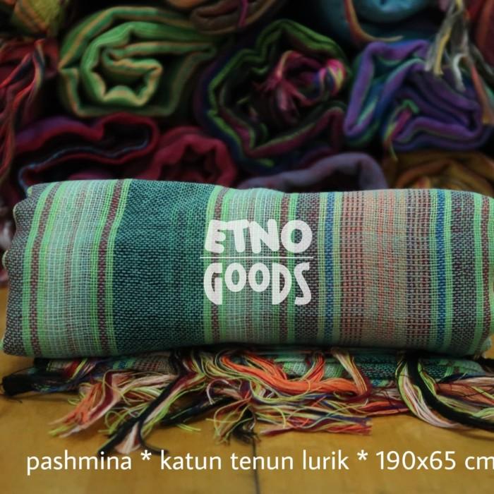 Foto Produk Pashmina Lurik - Light Green dari Etno Goods