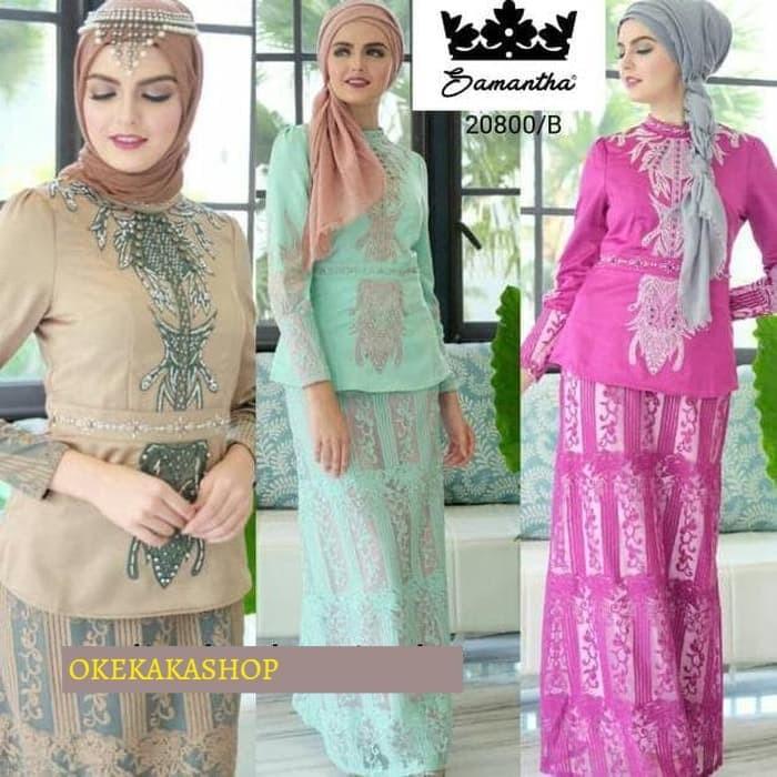 Jual Gaun Pesta Samantha 20800 Fashion Muslim Gamis Setelan Rok