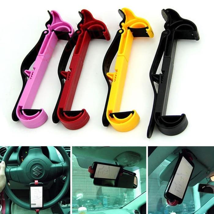 Foto Produk Klip Holder Handphone / GPS untuk Stir Mobil dari ABC STORE IDR