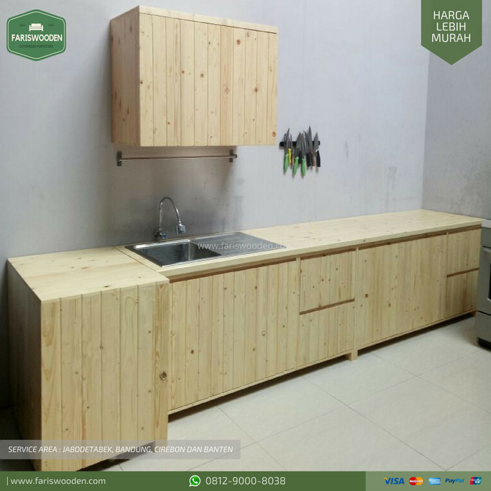 Jual Kitchen Set Natural Color Kitchen Set Jati Belanda Tokopedia
