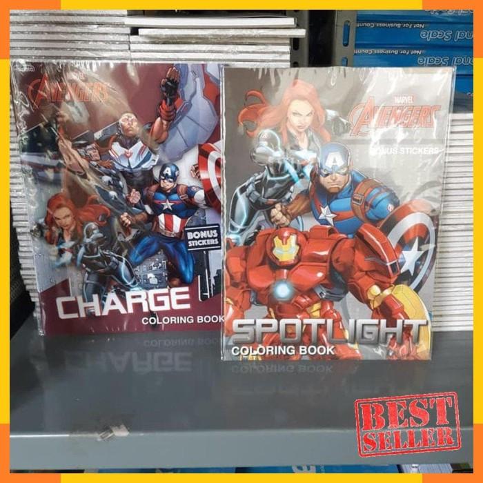 Foto Produk PROMO / Coloring Book AVENGERS LARGE . Marvel Buku Mewarnai Adinata dari eko handoko