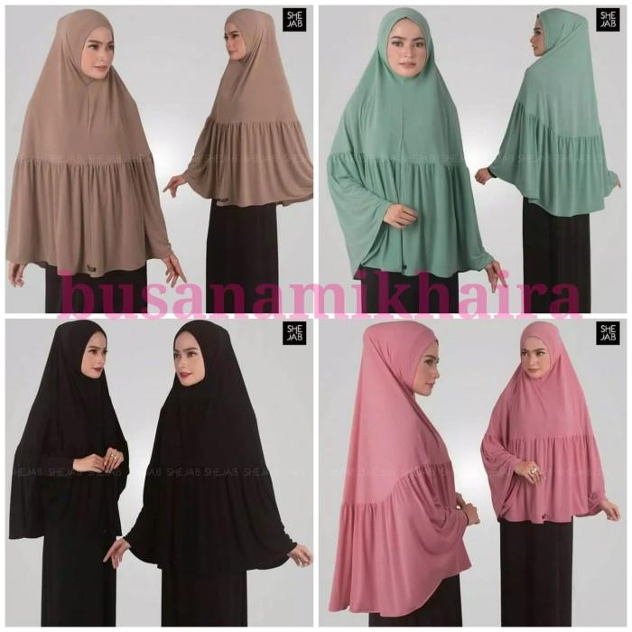 Foto Produk Syria Clara - Shejab - Jilbab Instan - Hijab Syria Jersey Polos - Hitam dari Busana-mikhaira