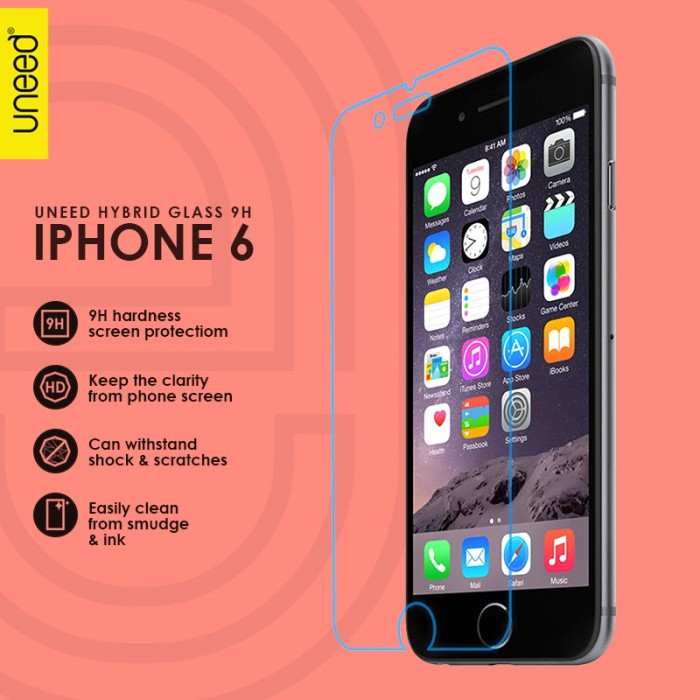 Uneed Hybrid Glass Screen Protector 9H for iPhone 6 / 6S - Original