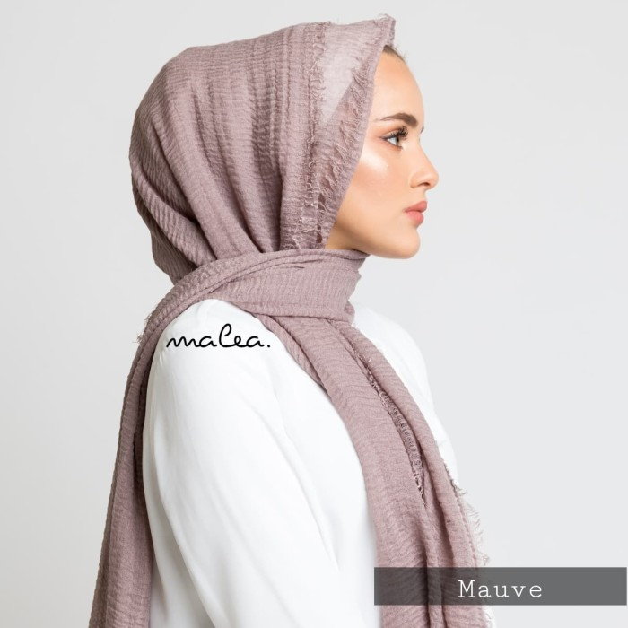 Jual Crinkle Arabian Pashmina Mauve Kota Bandung Malea Tokopedia