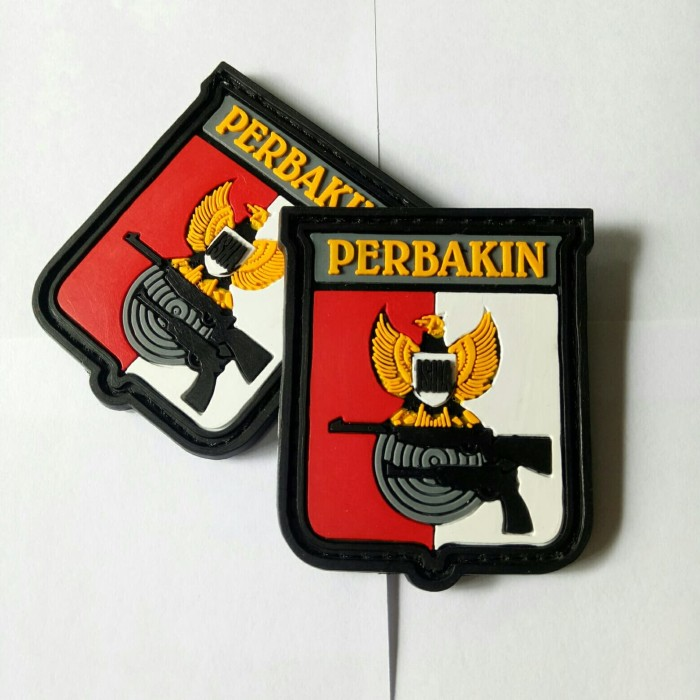 Jual Patch Rubber Logo Perbakin Tempelan Emblem Karet Velcro
