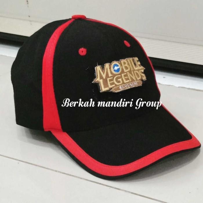 Foto Produk Topi MOBA Mobile Legends Bordir dari Berkah Mandiri Group A