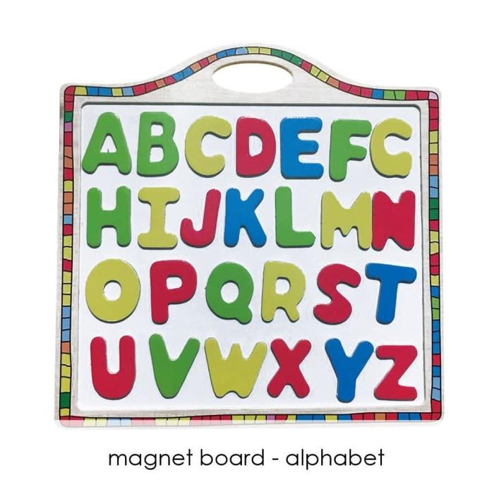 Edufuntoys - MAGNET BOARD number/ alphabet Selamat Berbelanja bun