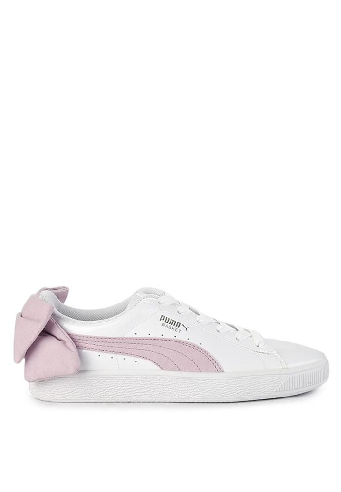 Jual Original Sneakers Sepatu Puma Basket Bow New Sb - White Winsome ... 00548f992