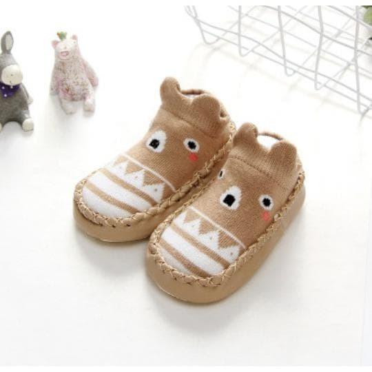 Foto Produk PATTERN MOCCASINS sepatu bayi prewalker kaos kaki anak import dari aminahstoree