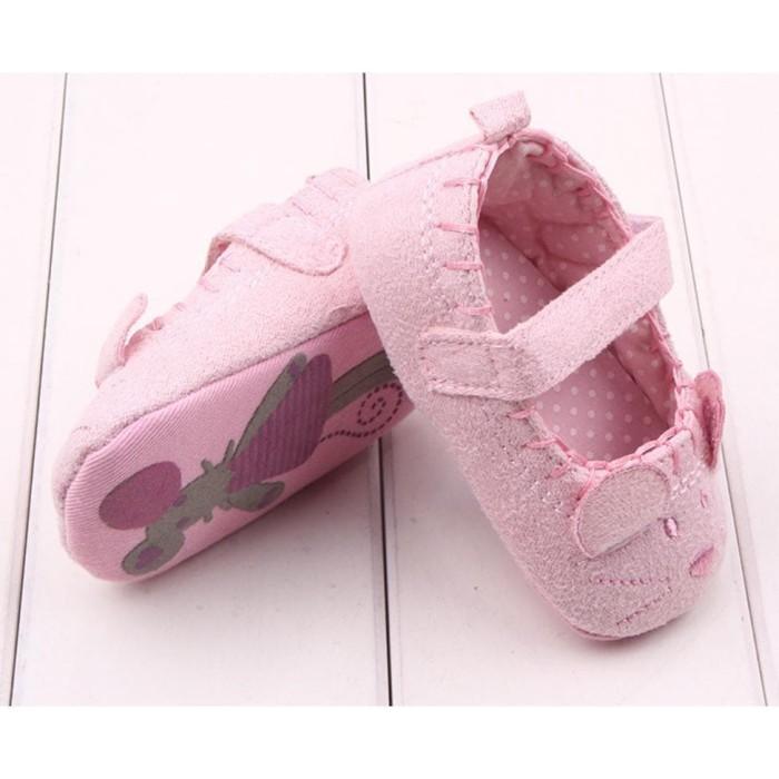 Foto Produk prewalker anak bayi MOUSE velvet impor babyshoes dari aminahstoree