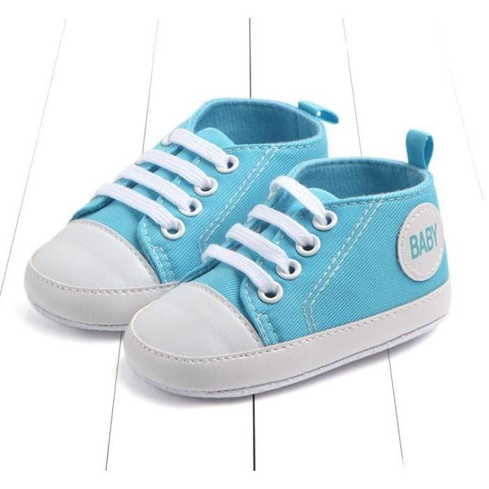 Foto Produk sepatu bayi prewalker bayi sporty kanvas impor dari lindastoree