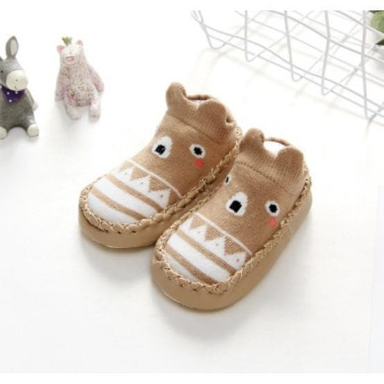 Foto Produk PATTERN MOCCASINS sepatu bayi prewalker kaos kaki anak import dari lindastoree