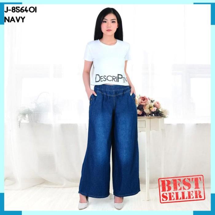 Foto Produk Belle Fashion Celana Kulot Jeans XXL Jumbo Murah Wanita Kekinian dari hiera.shop30