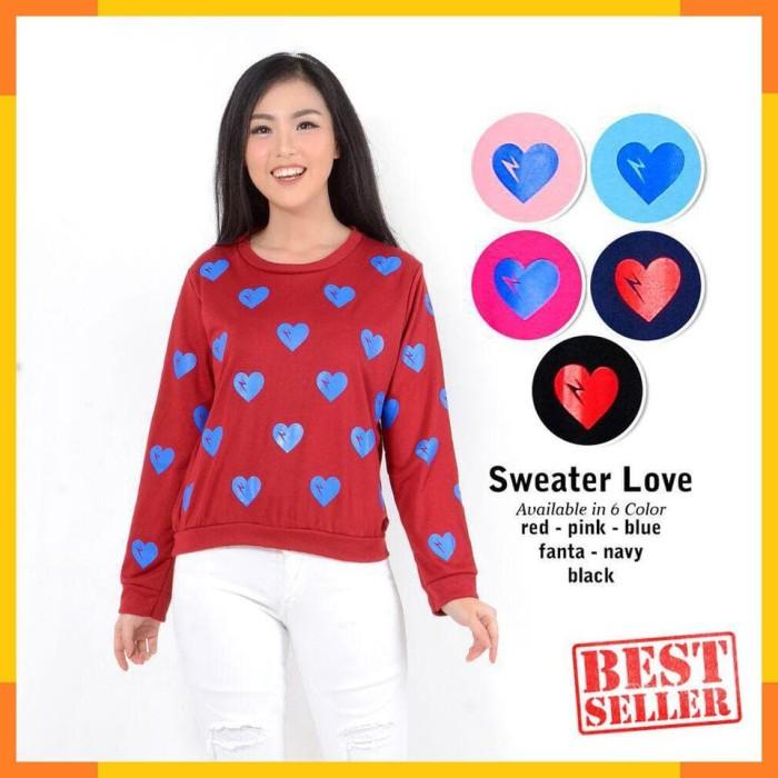 Foto Produk Belle Fashion Sweater Love 1406 dari hiera.shop30